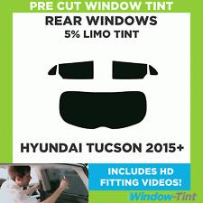 Pre Cut Window Tint - Hyundai Tucson 2015+ - 5% Limo Rear
