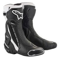 Alpinestars SMX PLUS V2 Black/White - Sports Motorcycle/Motorbike Boots New IN