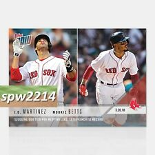 2018 Topps Now J.D. Martinez/Mookie Betts #231 Slugging Duo Tied for MLB HR Lead