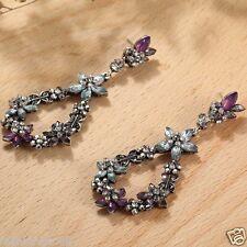 Wholesale 1pair Multi-color  Crystal Rhinestone Long Ear Stud Hoop earrings 149
