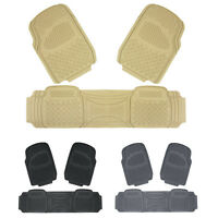 New Heavy Duty Rubber 3pc Car Floor Mats All Weather Season Nibbed Backing Liner