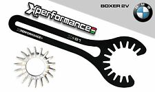 CHIAVE GHIERA SCARICO  COLLETTORE MARMITTA BMW 2V BOXER R80 R ST GS RT CS RS 7