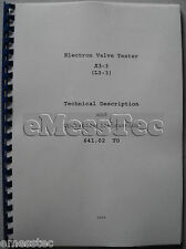 L3-3 Tube tester technical and operating manual in English NEW