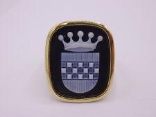 massiver Wappen / Lagenstein / Herren Ring Gold 750 punziert Gr. 62 signiert