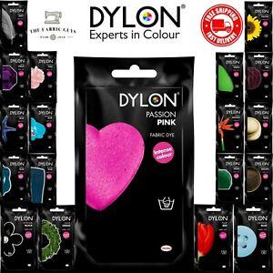 Dylon Hand Wash Dye Sachet 50g Fabric Clothes Jeans Soft Powder All Colours