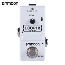 ammoon boucle électrique Pédale Effet Guitare Looper True Bypass +câble USB U7T9