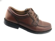 Chaps Men's Brown Leather Lace Up Oxford Shoes Size 10 M