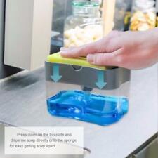 Soap Pump Dispenser & Sponge Holder For Dish Soap And Sponge For Kitchen