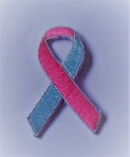 Blue & Pink Infant and Pregnancy Loss Awareness iron-on embroidered patch.Badge