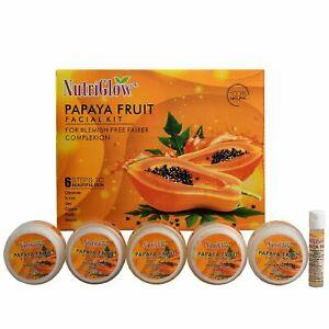 NutriGlow Papaya Blemish Free Fairer Skin Facial Kit  For Skin All Skin Types