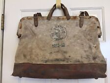 "Vintage~ Klein Tools~ #5102018~ Lineman Electrician~Leather + Canvas~17X13X6"""