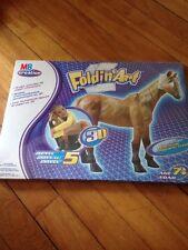 NIB Milton Bradley Creation Foldin' Art - Paper Sculpture Horse 3D