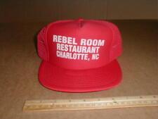Rebel Room Restaurant Charlotte NC North Carolina vtg old mesh snapback hat
