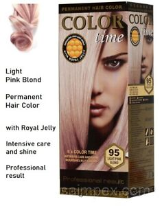 95 Light Pink Blond - Intensive care with royal jelly.Permanent hair colouring