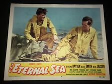 "U.S. NAVY WW2 Movie original 1955 lobby card  ""THE ETERNAL SEA"" War Material"