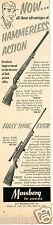 1958 Print Ad of Mossberg Model 346K & 350K .22 Rifle
