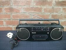 Philips D8092/05 Stereo Radio Cassette Recorder Boombox,Early 80's,Fully works
