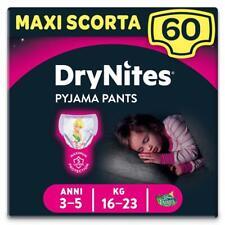 Huggies Drynites Mutandine per Bambina 3-5 anni Maxi Confezione da 60 Mutandine