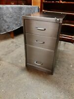 Lovely Vintage Industrial 3 Draw Filing Cabinet Stripped and Polished Nice Size.