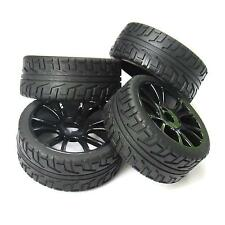 4pcs 17mm Hub Wheel Rim & Tires Tyre for 1/8 Off-Road RC Car Buggy HSP 180043