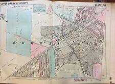 1942 Delaware Co Pa Marple Twp School Peter Smith Estate Broomall Sq. Atlas Map