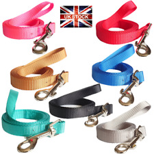 Dog Leads Leash Walking Accessory Strong Soft Durable Nylon 2 Sizes 7 Colours