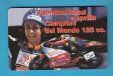 SCHEDA TELEFONICA NUOVA  MOTORSHOW 1997 VALENTINO ROSSI GOLDEN 697 CAMPIONE 125
