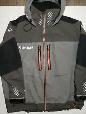 Simms XXL ProDry Gore-Tex Rain Jacket in Gunmetal, Black, Green, Orange