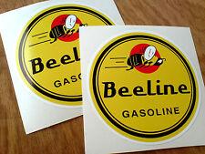 Línea recta gasolina Retro Clásico Retro Pegatinas Decals 2 85 mm Off