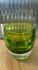 Green Glassybaby Votive Candle Holder Blown Glass Heavy