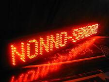 SCRITTA LUMINOSA a LED TARGA PERSONALIZZATA per CAMION a 12 oppure 24 Volt 5 cm