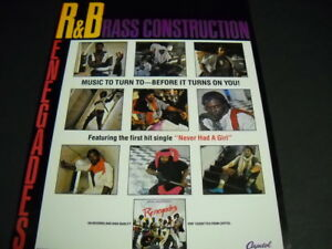 BRASS CONSTRUCTION...Before It Turns You On original 1984 Soul PROMO POSTER AD