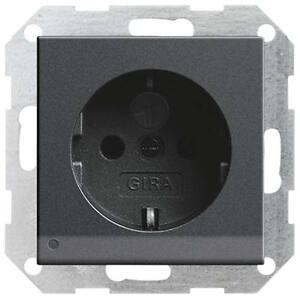 Gira 117028 Steckdose LED Orientierungsleuchte System 55 anthrazit mit Licht