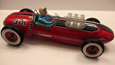 Modern Toys MASUDAYA Japan Tin Battery-Operated Red Race Car CHAMPION RACER 301