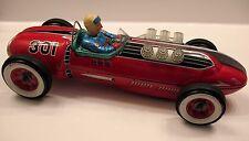 Modern Toys MASUDAYA Japan Tin Battery-Operated Red Race Car CHAMPION RACER 301