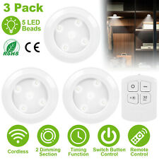 3 Pack Remote Control LED Security Night Light Cordless Battery-Powered Lamp