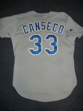 AUTHENTIC Russell Athletic JOSE CANSECO TEXAS RANGERS Grey Jersey 44 A's Rays