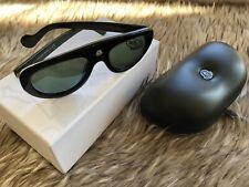 New Moncler Blanche Sunglasses ML 0001 92Q Acetate Blue/Olive 55mm