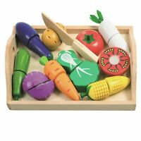Eliiti Wooden Cutting Fruits Toy Set for Girls Kids 3 to 5 Years Old
