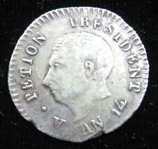 HAITI 25 CENTIMES 1817 AN14 SILVER D'HAITI KM15 SHARP 26# WORLD MONEY COIN