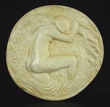 Paul Belmondo projet de médaillon résine essai Ep artiste femme nue sirène 20 cm