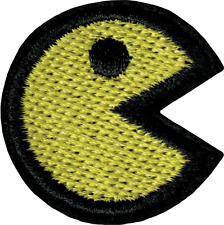 22140 Yellow Pac-Man Eating Video Game 80s Retro Embroidered Sew Iron On Patch