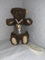 "Vintage 2005 Steiff  Teddy Bear Jointed Brown Mohair 13""  Tag # 668265"