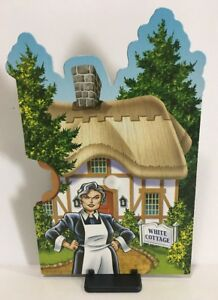 CLUE MYSTERIES Game Replacement Part MRS WHITE COTTAGE Assembled Character Wheel