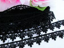 Black Venise Lace Trim 1/2 inch wide  - selling by the yard