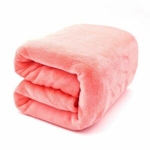 Flannel Blanket Anti Pilling Light Thin Plaids Warm Mechanical Wash Bedspread