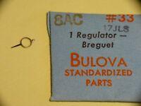 Pezzo Orologio Bulova 8AC Regulator Breguet 17 Gioielli