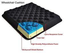 Wheelchair Cushion Cool Gel Foam Seat pressure relief waterproof skid proof sit