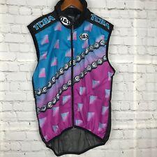 Louis Garneau Mens Cycling Wind Vest Front Zip TCBA 2000 Ride Incentive Sz M