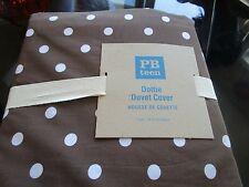 Pottery Barn Teen Dottie twin coffee duvet  New with tags